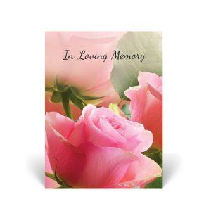 Floral Memorial Cards