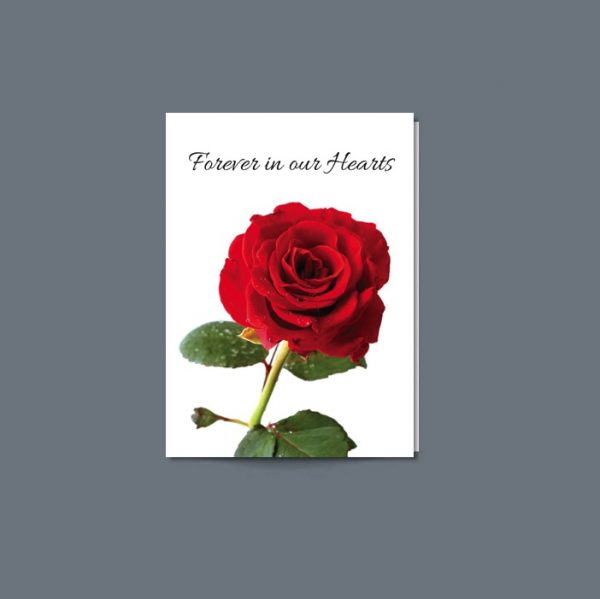 Memorial Card featuring a rose