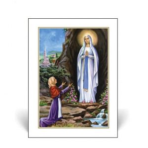 Memorial Card with Our Lady of Lourdes