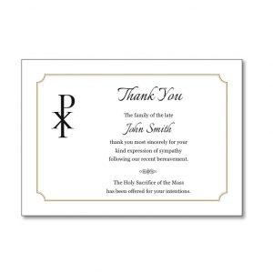 Acknowledgement Card TYC01