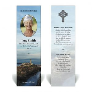 Irish themed memorial bookmark