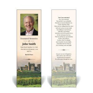 Irish theme memorial bookmark featuring the Rock Of Cashel