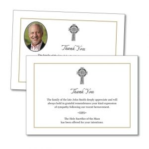 Acknowledgement Card with a celtic cross