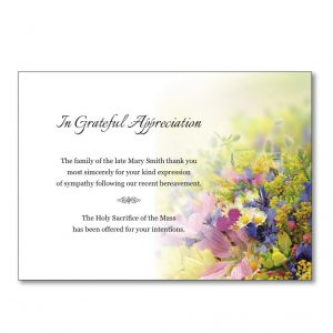 Acknowledgement Card TYC10