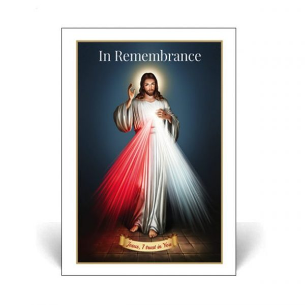 Memorial Cards MR28 with Divine Mercy Picture