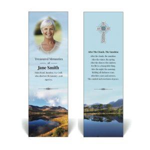 Irish themed memorial bookmark featuring Connemara scenery
