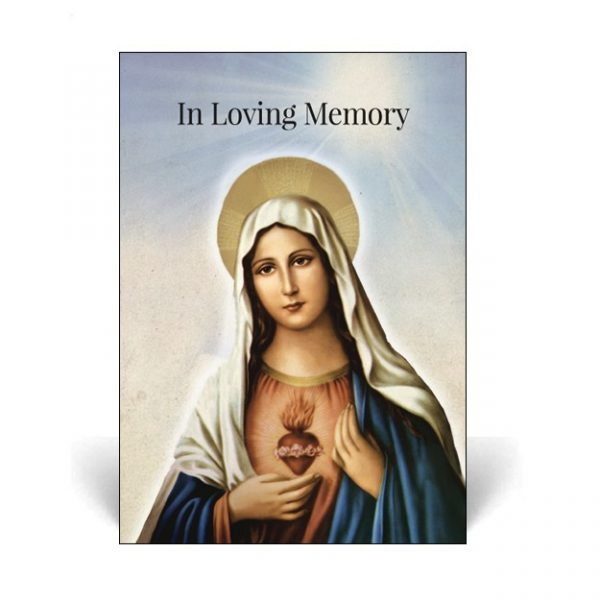 Memorial Card MR27 featuring the Virgin Mary