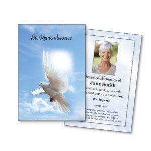Religious / Spiritual Single Memorial Cards