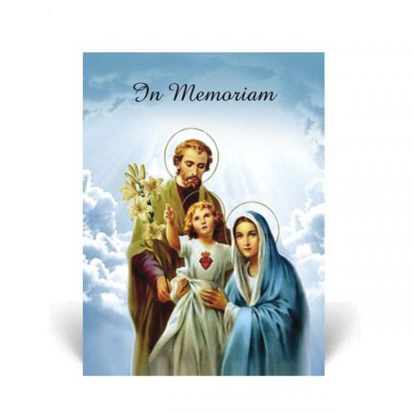 Memorial Cards MR31 featuring the Holy Family