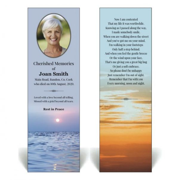 Nature themed bookmark featuring an ocean scene