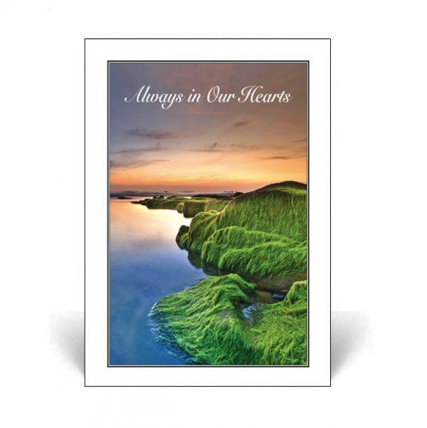 Memorial Card featuring a sunset scene
