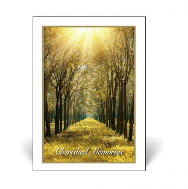 Memorial Card featuring a forest scene
