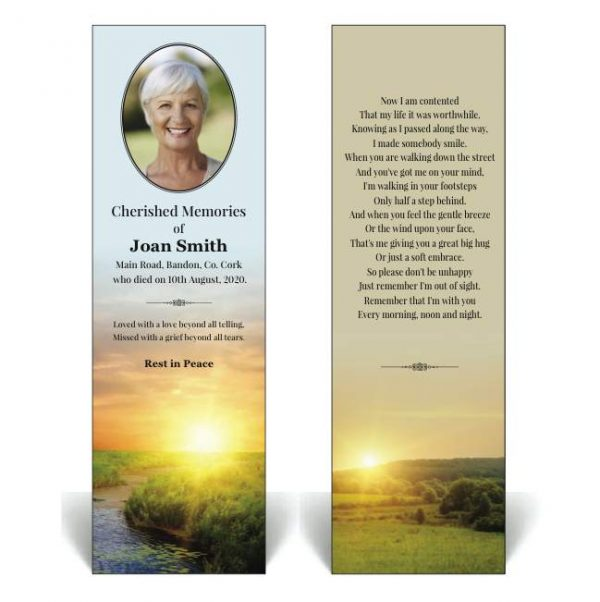 Nature's Beauty Bookmark NB29 - Bookmark featuring a sunrise image