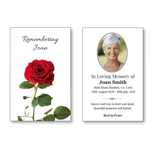 Wallet Card featuring a rose