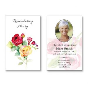 Wallet Card featuring roses