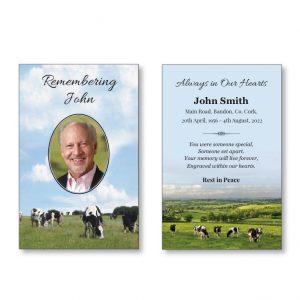 WMC38 - Wallet Card featuring cows grazing
