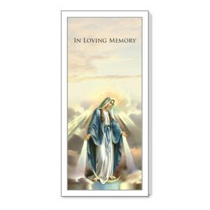 Bookmark featuring an image of Our Lady