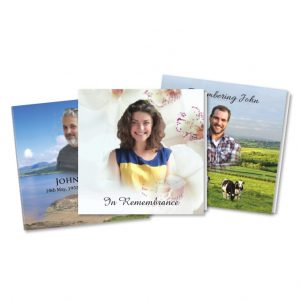 Square Memorial Cards - Custom Designed
