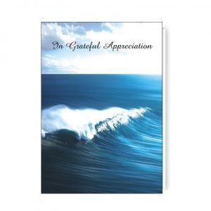 Wallet Card Holder featuring an Ocean Wave